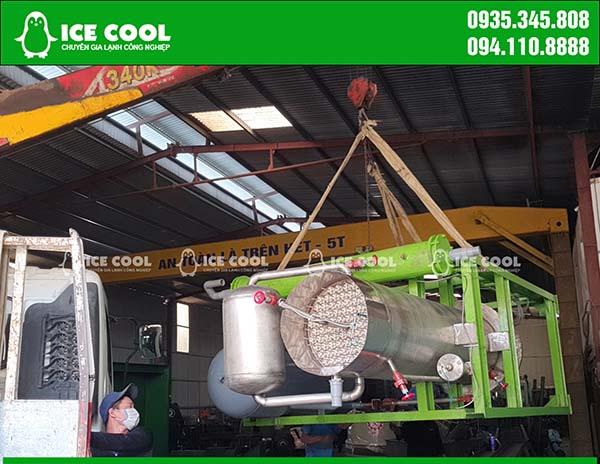 Xuất xưởng máy đá viên 5 tấn cho khách hàng tại Nghệ An